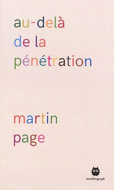 martin page au-dela de la penetration